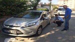 Özgür Teke polisleri arayarak olayı bildirdi