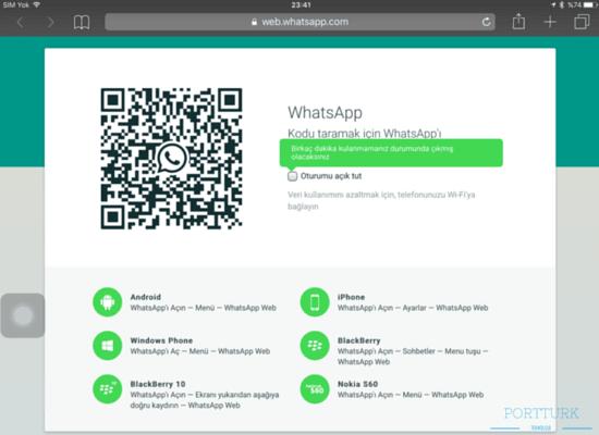 web whatsapp'ı nasıl kullanırım